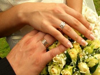 фото кольца на руке обручальные