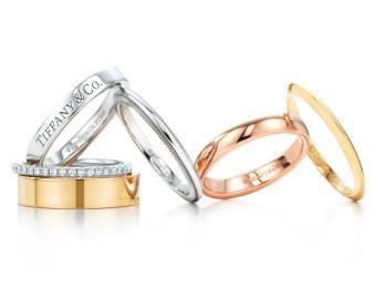 Свадебные кольца из различных металлов