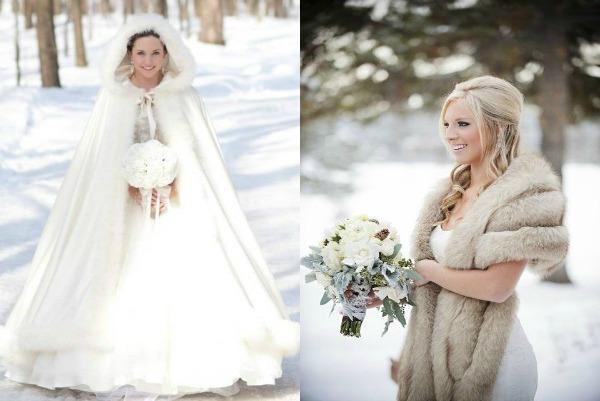 Теплый наряд для невесты