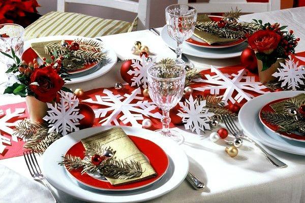 Праздничный стол в рождественском стиле