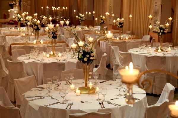 Украшение свадебного стола своими руками фото