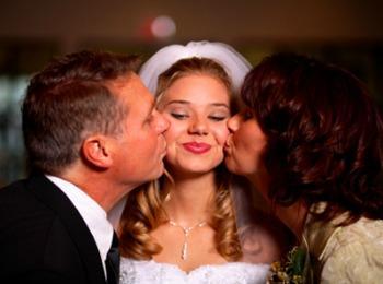 Трогательные моменты свадебного торжества
