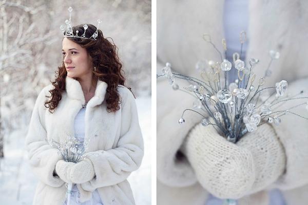 Бракосочетание в стиле зимней сказки