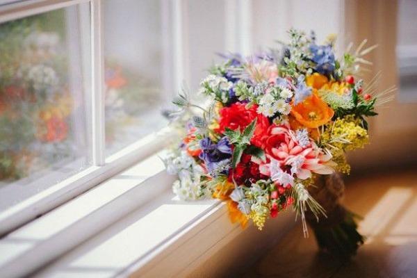 Букет невесты для свадьбы в деревенском стиле