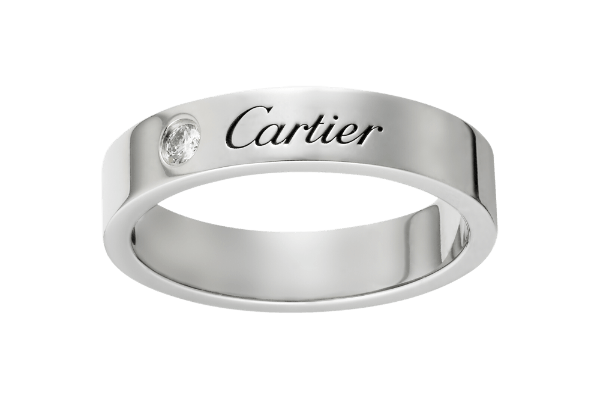 Модель свадебного кольца от Картье профиля американка