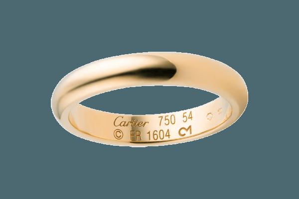 Классическое гладкое колечко из золота