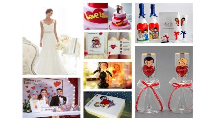 Атрибуты для организации свадьбы в кукольно-романтичном стиле