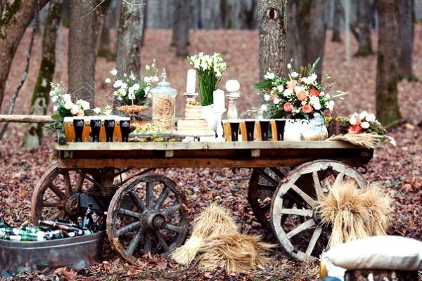 Деревенские мотивы в декоре свадьбы