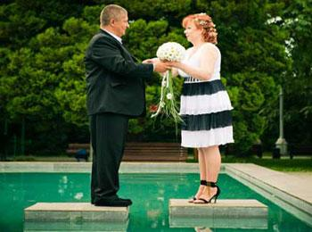 Серебряная свадьба на природе