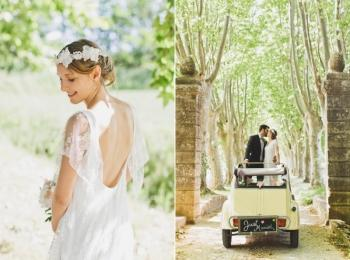 Невеста и свадебный кортеж в стиле Прованс