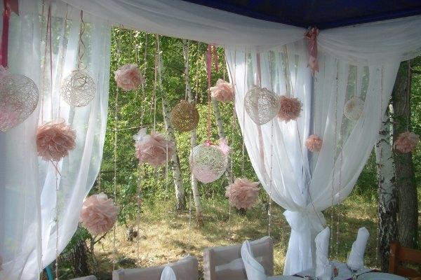 Лучшее место проведения свадьбы - тематично украшенный шатер на природе