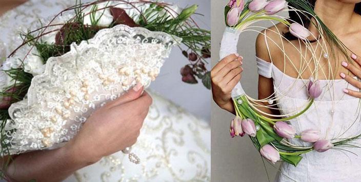 Оригинальные букеты невесты