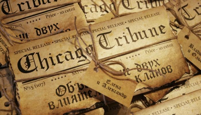 Интересный вариант пригласительных - под чикагскую газету