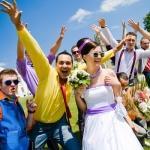 Ретро-свадьба в ярком стиляжном стиле