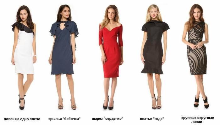 Пять ярких вариантов платьев для посещения свадеб при прямоугольной фигуре