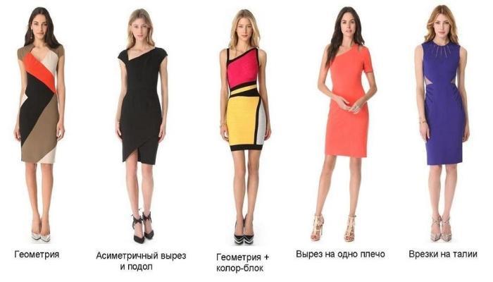 Красивые яркие платья до колен, подчеркивающие талию