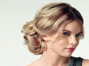 Красивая и удобная прическа узел, чтобы волосы не мешали