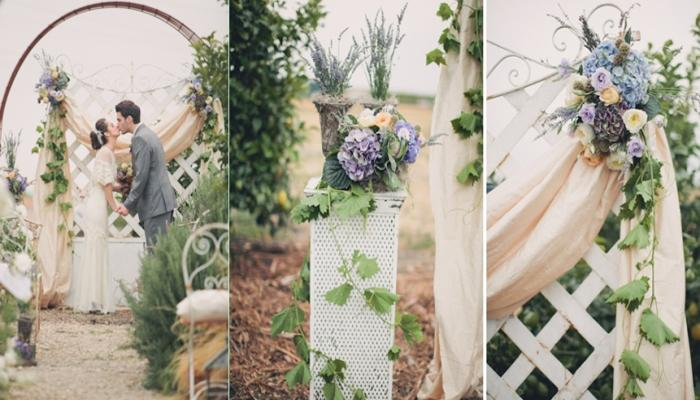 Плетеная и деревянная состаренная мебель приветствуются стилем Прованс