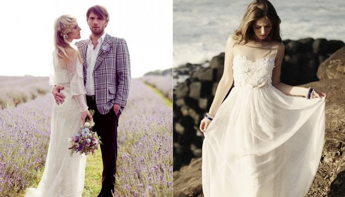 Варианты фасонов платья для невесты в стиле Прованс