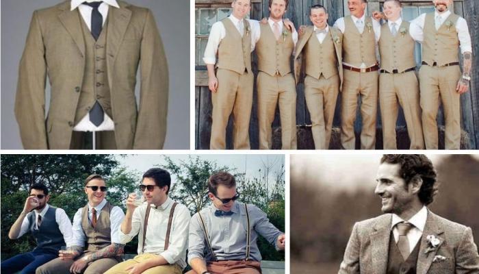 Варианты нарядов для жениха на ретро-свадьбе