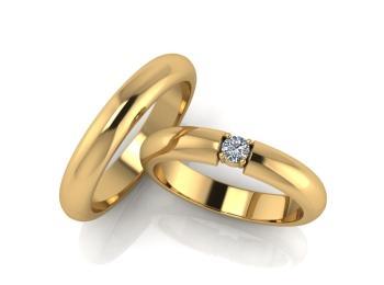 Усовершенствованные классические обручальные кольца Ricchezza