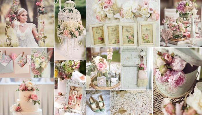 Интересные винтажные аксессуары для свадьбы Шебби шик