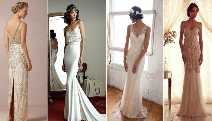 Платья могут быть белыми или любого другого пастельного цвета