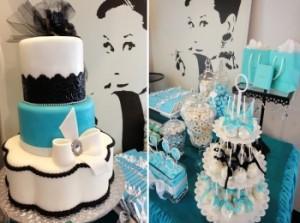 Торт и украшение столов для свадьбы в стиле Тиффани