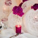 Интересные украшения для банкетного зала на свадьбу
