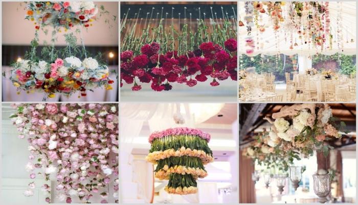 Цветочные композиции для украшения стен и потолка