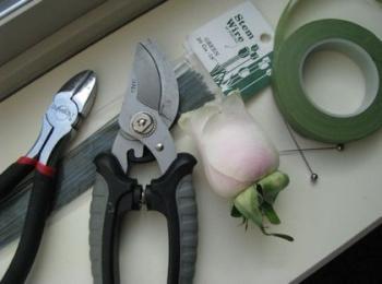 Необходимые инструменты для изготовления бутоньерки