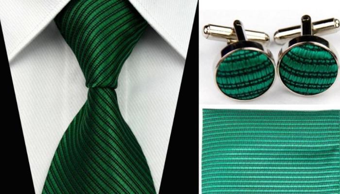 Вписаться в тематику мужчине помогут аксессуары зеленых цветов