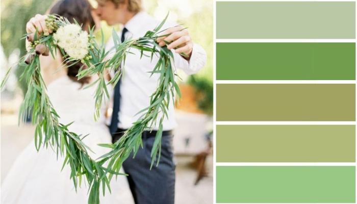 Зеленый цвет богат на множество приятных глазу оттенков, которые можно использовать при украшении