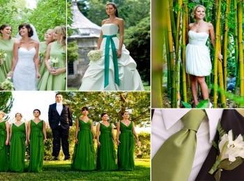Зеленый цвет имеет приятное для молодоженов значение в разных культурах