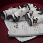 Черно-белые приглашения-свертки