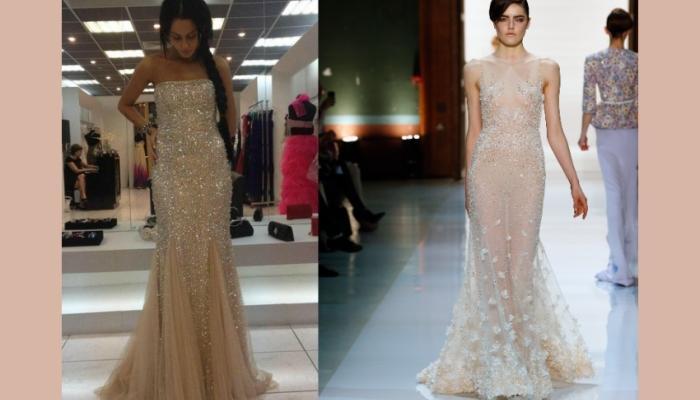 Идеальный вариант платья для смелых невест - расшитое бисером или камнями