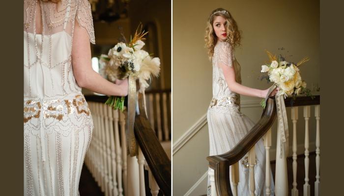 Один из вариантов свадебного платья в стиле 20-х годов