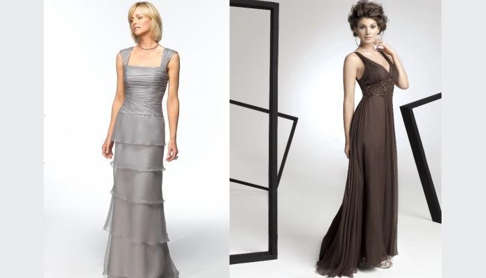 Интересные фасоны платьев для зрелых женщин на свадьбу дочери