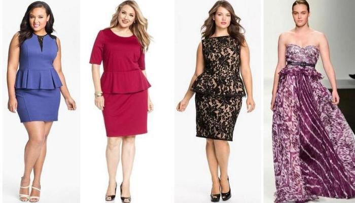 Несколько привлекательных вариантов платьев для полных дам