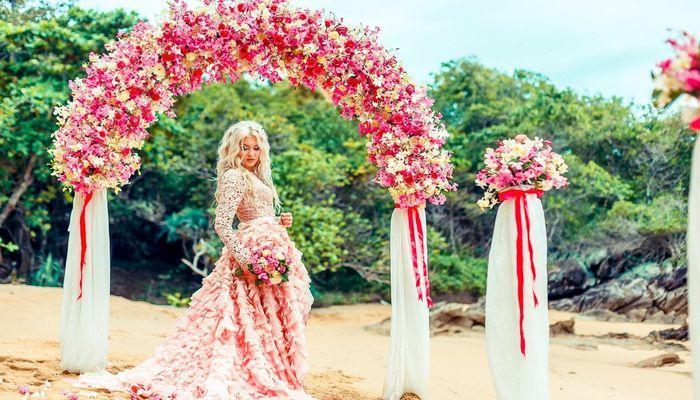 Розовая свадьба идеи проведения
