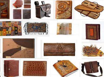 различные принадлежности из кожи