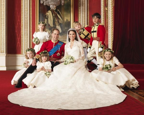 Парадное свадебное фото Кейт и Принца Уильяма