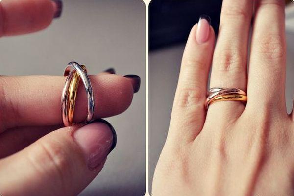 Удивительной формы кольцо Тринити