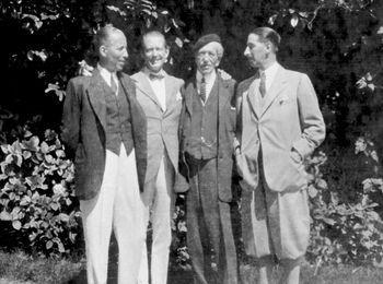 Альфред Картье с тремя сыновьями