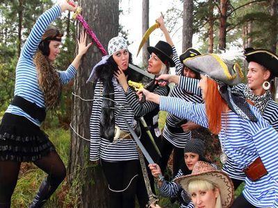 Подготовка к пиратской вечеринке