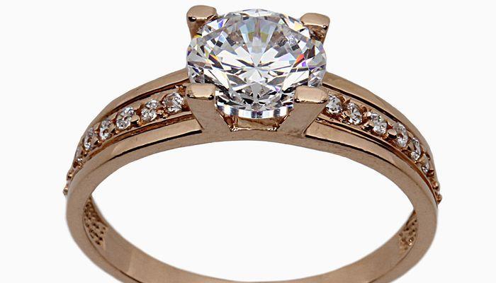 Массивное кольцо из красного золота