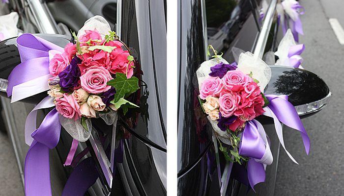 Украшение цветами на дверной ручке